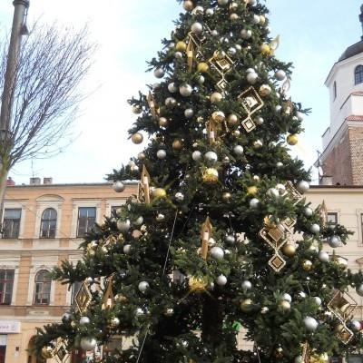 Choinka na  deptaku w Lublinie