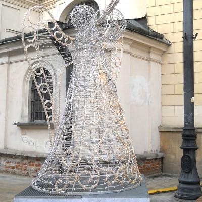 Anioł na deptaku w Lublinie
